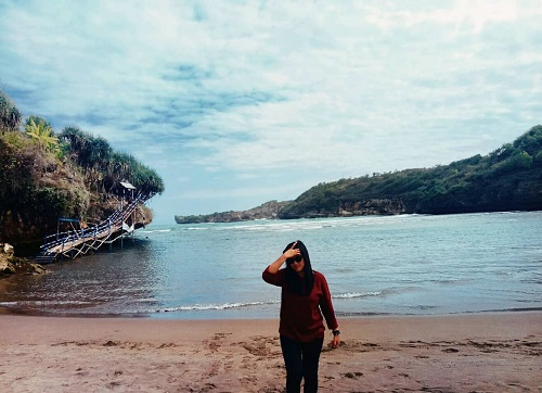 wisata pantai baron gunungkidul