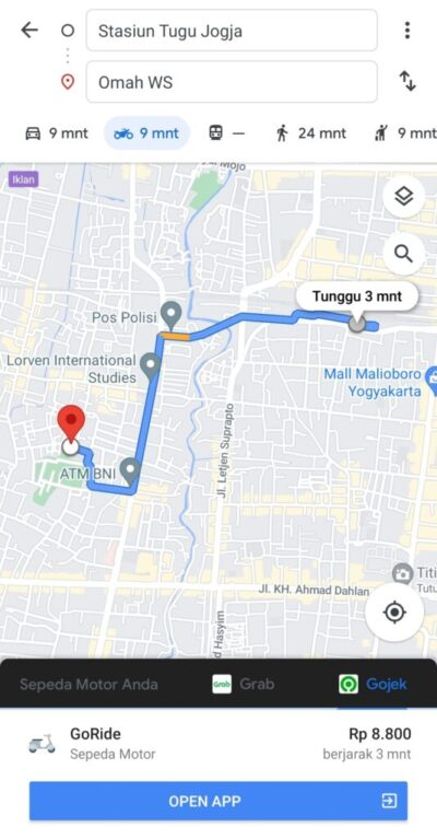 Peta google map ws rental motor